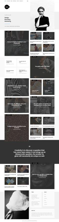 Buy Gocco - Portfolio WordPress Theme by on ThemeForest. GOCCO – Personal Portfolio WordPress Theme from VASCA help you create beauty portfolio site and online shopping just . Web Portfolio, Portfolio Images, Personal Portfolio, Newspaper Layout, Newspaper Design, Portfolio Management, Personal Image, Ui Web, Email Design