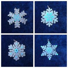 Snowflake ornaments perler beads by yattacreations