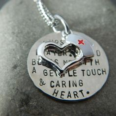 Nurses Prayer  Handstamped Necklace by WireNWhimsy on Etsy, $35.00