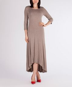 Another great find on #zulily! Beige Hi-Low Dress #zulilyfinds