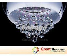 New Led Glass Shade W Crystal Ceiling Light Pendant Lamp Lighting Chandelier From Bobogo, $209.42 | Dhgate.Com