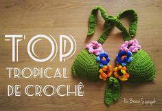 Top Tropical de Crochê por Bruna Szpisjak.   #semprecirculo #crochet #croche #crocheted #crocheter #crocheteiras #ganchillo #cropped #topcropped #tropical #carnaval2018 #praia #beachy #summer #verão #moda #trend #tendencia #facavocemesmo #handmade #craft #artesanatos