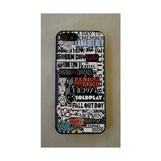 Arctic Monkeys, All time low, Blink 182, Green day, ColdPlay, Nirvana,... ($9.99) ❤ liked on Polyvore