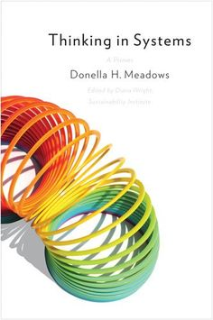 Toti Di Dio suggests three books for our students. The first one is Thinking in Systems: A Primer by Donella H. Meadows