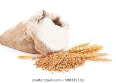 Flour in burlap bag with wheat ears Royalty Free Images, Royalty Free Stock Photos, Ears, Burlap, Grains, Hessian Fabric, Ear, Seeds, Jute