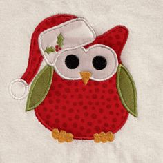 Free Embroidery Design: Christmas Owl - I Sew Free love owls. Machine Embroidery Projects, Machine Embroidery Applique, Free Machine Embroidery Designs, Vintage Embroidery, Christmas Applique, Christmas Sewing, Christmas Embroidery, Owl Applique, Applique Patterns