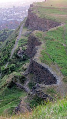 Arthur's Seat in Edinburgh Scotland. Breathtaking scenery.