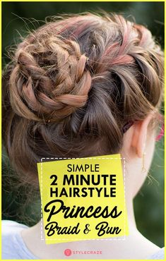 Simple 2 Minute Haistyle: Braid And Bun #women #hairstyles