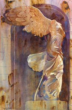 The Winged Victory, Giclee Print of a Figurative Watercolor Painting, Picture of Famous Statue in the Louvre, 13 x 19 Inches Susan Avis Murphy,http://www.amazon.com/dp/B00AFEJ3EU/ref=cm_sw_r_pi_dp_AkeCtb0DC48EAHZJ