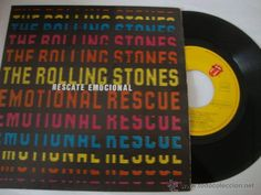 DISCO SINGLE 45 RPM / THE ROLLING STONES / RESCATE EMOCIONAL 1980