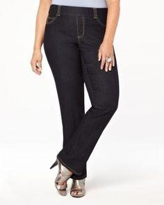 versatile straight leg jean | Shop Online at Addition Elle