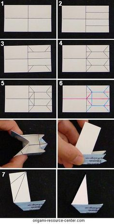 origami boat business cards- diagram for back of regular sized card Origami And Kirigami, Origami Fish, Origami Paper, Diy Paper, Paper Crafts, Oragami, Boat Crafts, Easy Crafts, Business Card Design
