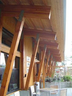 Glued-laminated timber is more solid wood beams than steel Timber Window Frames, Timber Windows, Timber Architecture, Architecture Details, Mountain Home Exterior, Rustic Exterior, Timber Structure, Wood Beams, Steel Beams