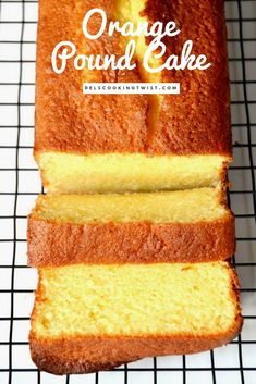 Fragrant moist and tender Orange Pound Cake flavored with freshly squeezed orange juice and orange zest. Fragrant moist and tender Orange Pound Cake flavored with freshly squeezed orange juice and orange zest. Pound Cake Recipes, Easy Cake Recipes, Baking Recipes, Dessert Recipes, Juice Recipes, Orange Bread Recipes, Best Pound Cake Recipe Ever, Dessert Bread, Dessert Food