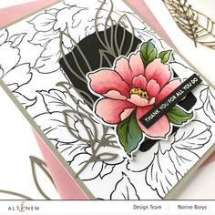 Outline Images, Kind Reminder, Altenew Cards, Whole Image, Leaf Images, My Stamp, Flower Cards, Ink Color, Watercolor Paintings