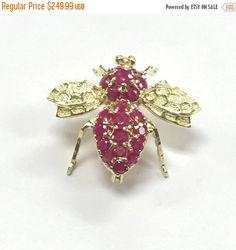 ON SALE July Birthstone 14k Yellow Gold Bumble by LadyLibertyGold This would be perfect for my sister. She is a July baby and her name is Melissa which name meaning is Honeybee