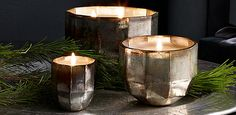 Mercury Glass Luxury Candle Collection | RH