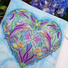 BOM DIA! Desejo um dia cheio de boas energias! ✨ Linda pintura @coloring_secrets #ocean #oceano #coraçao #heart _______________________________________________ ↪ Use #lostoceancolors, e compartilhe seus desenhos ou via Direct!↩ Siga o IG: @lostoceancolors