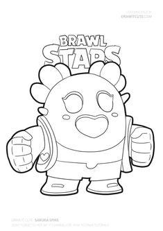 Dibujo de Jessie de Brawl Stars para colorear en 2019