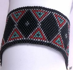 Peyote+Stitch+Bracelet+Pattern++Bow+Ties+and+by+divelladelights,+$4.00