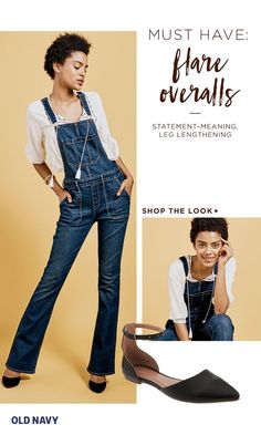 "The best part about wearing grown-up overalls? You never have to pick a ""matching top."" The more embellished or dramatic the blouse, the better. You know those peasant tops, Victoriana ruffle blouses, and frilly lace-paneled shirts you always have trouble pairing bottoms with? Look to the overalls. Casual meets ornate meets pretty."