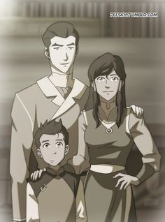Did someone ask for a Makorra family photo? Because I went to the fangirls land and I returned with this :D