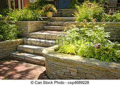 Jardim na escada