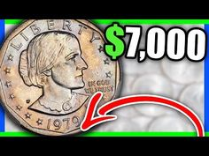 These super rare dollar coins are selling for thousands of dollars - coins worth money. For more valuable coin tips give the video a thumbs up! Keep coin rol. Rare Coins Worth Money, Valuable Coins, Valuable Pennies, Old Coins Value, Stamp Values, Coin Dealers, Coin Shop, Coin Worth, Coin Values