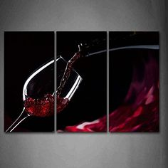 3 Panels Framed Wall Art Picture Red Wine Glass Canvas Print Food Poster With Wooden Frame For Home And Office Decor Home Pictures, Wall Art Pictures, Pictures To Paint, Print Pictures, Wine Wall Art, Glass Wall Art, Wine Photography, Creative Photography, Frames On Wall