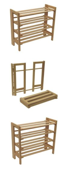 shoe organizers shoe rack wood racks for closets entryway mudroom foldable 4