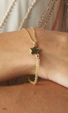 #doublestrand #star #bracelet #gold #publik #shoppublik www.shoppublik.com