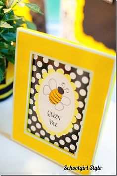 'Queen Bee' ideas and many more for a bee themed classroom.