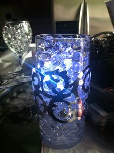 Water beads LED lights , wedding centerpieces