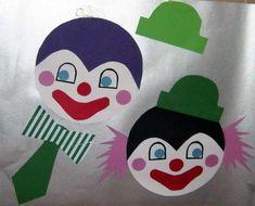 clown mobile oder fensterbild aus tonpapier selber machen anleitung mit schablone und vorlage. Black Bedroom Furniture Sets. Home Design Ideas