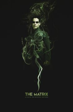 The Matrix - movie poster - quite like this...a bit spooky
