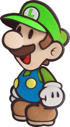 Paper Luigi- Sticker Star Style by Fawfulthegreat64 on DeviantArt