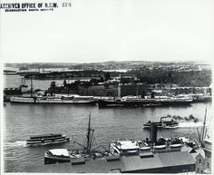 View from the Rocks over Circular Quay across to Royal Botanic Gardens and Eastern Sydney by State Records NSW, via Flickr