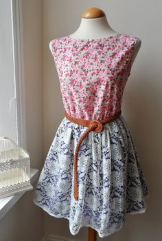 ♥ Lace Floral Dress / In Pinks and Purple by jenniferlillydesigns, $35.00..just listed ♥