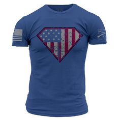 Justice and Liberty for all!  Don't just be a Patriot...be a SUPER Patriot.   Grunt Style's Super Patriot is a royal t-shirt made of 100% ultra comfortable and soft cotton.