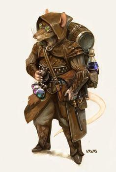 """Stephen Wood auf Twitter: """"#ratfolk commission #pathfinder #alchemist #dnd… """""""