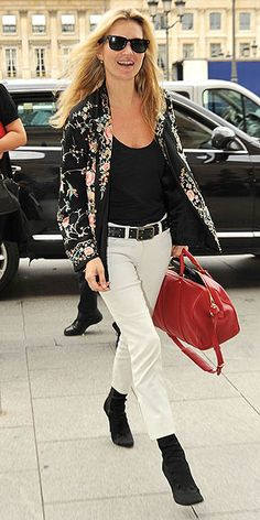 KATE MOSS in a patterned blazer!   Coming this fall from Style Stalker