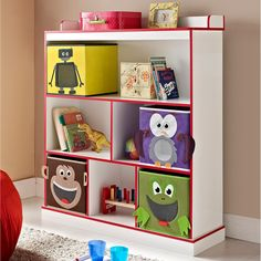 Altra Kids 3-Shelf Bookcase with 4 Bins | Overstock.com Shopping - The Best Deals on Kids' Storage