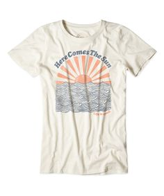 Life is good® Simply Ivory Here Comes the Sun Cool Tee | zulily - Click the link to see the newly released collections for amazing beach bikinis! :