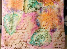 Creating Background using Gelatos & Paper Crafter Crayons