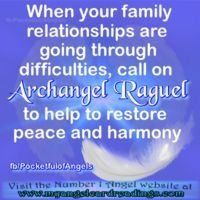 Archangel Raquel pray for difficult family | 1000 Inner Peace Quotes, Peace And Harmony, Archangel, Pray, Relationship, Modern, Trendy Tree, Relationships
