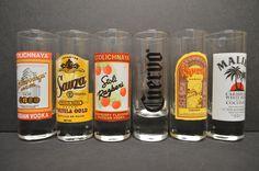 A personal favorite from my Etsy shop https://www.etsy.com/listing/465415267/shot-glasses-stolichnaya-russian-vodka