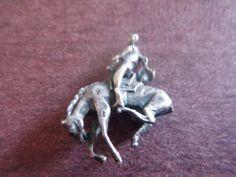 Vintage Sterling Silver Cowboy Bucking Horse Western Bracelet Charm 1940S | eBay