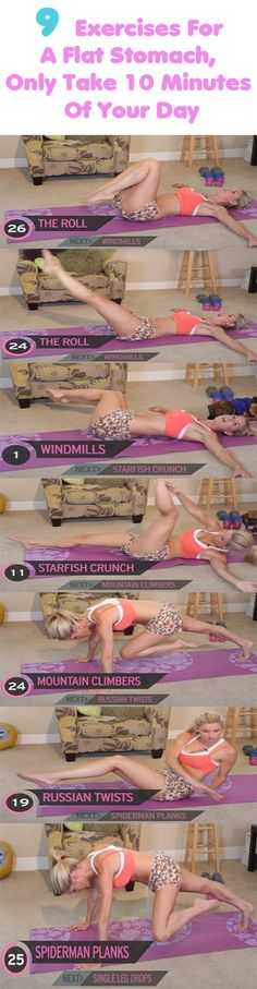 9 Exercises For A Flat Stomach, Only Take 10 Minutes Of Your Day  Who does not want to be fit and to have a flat stomach, right? Well, this is easier said than done. This process requires a lot of time and dedication.