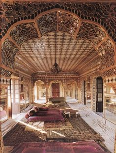 Beautiful woodwork... I could just lounge in there all day!