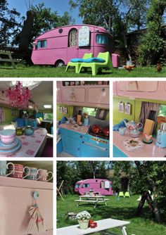 I have no idea what the site says that this link leads to, but this camper is adorable!